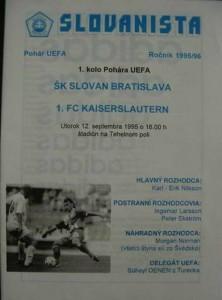 bratislava-kaiserslautern 95-96